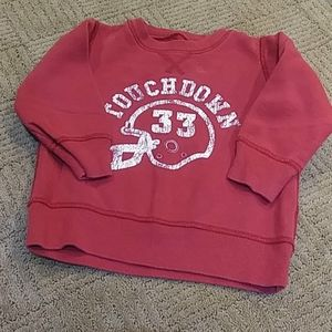 Children's Place football sweatshirt, 18mos